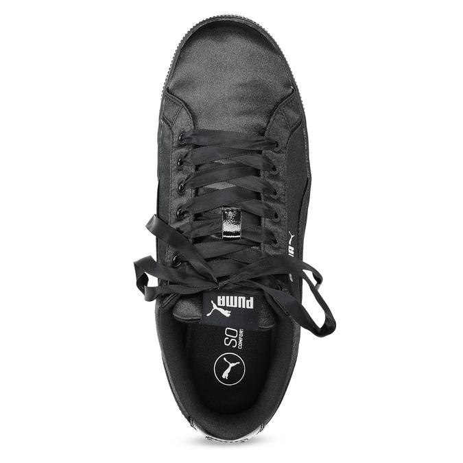 Černé saténové tenisky puma, černá, 509-6710 - 17