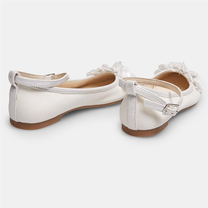 Dívčí bílé baleríny s kytičkami mini-b, bílá, 321-1162 - 17