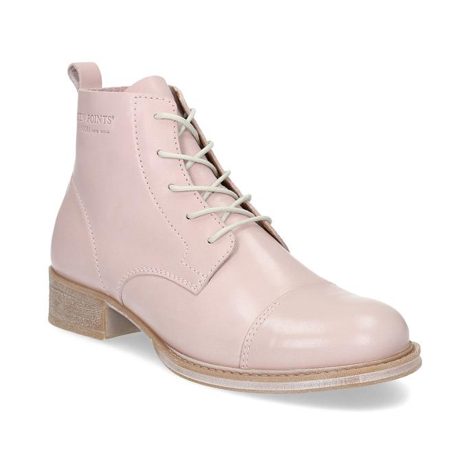 Dámská kotníčková obuv šněrovací ten-points, růžová, 526-5041 - 13