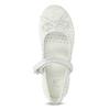 Bílé dívčí baleríny s páskem přes nárt mini-b, bílá, 229-1103 - 17