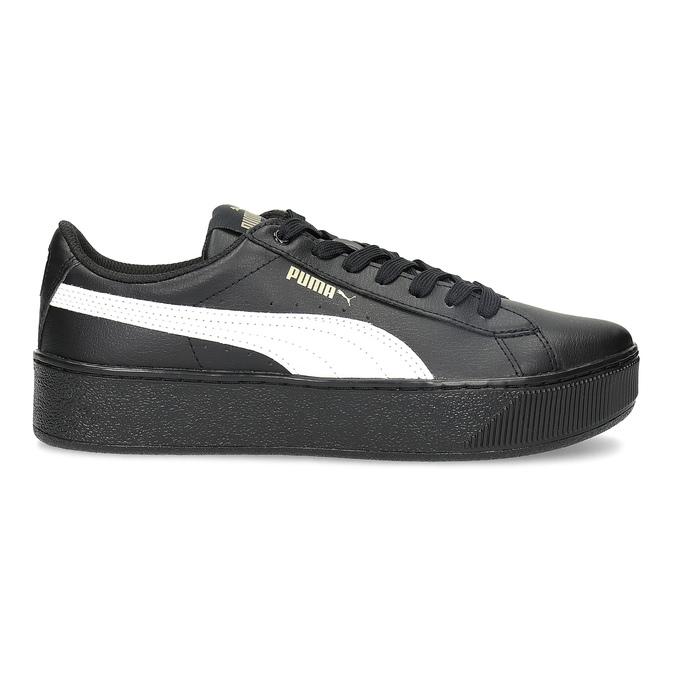 Černé dámské tenisky na flatformě puma, černá, 504-6704 - 19