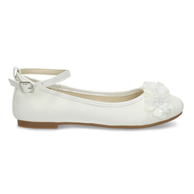 Dívčí bílé baleríny s kytičkami mini-b, bílá, 321-1162 - 19