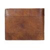 Pánská kožená peněženka s perforací bata, hnědá, 944-3192 - 16