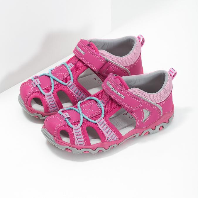 Růžové dětské sandály bubblegummers, 161-5609 - 26
