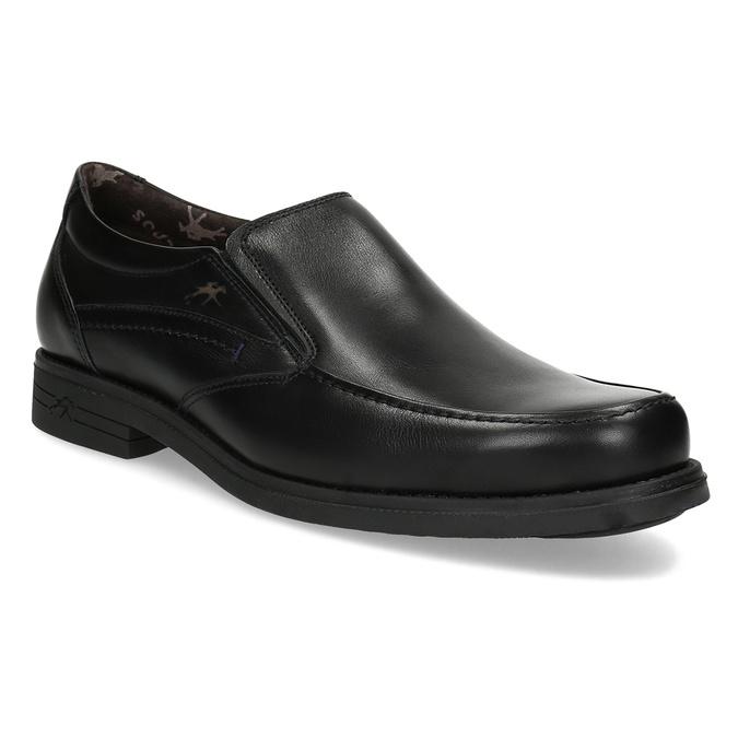 Kožené pánské Loafers fluchos, černá, 814-6600 - 13