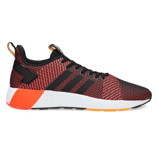 Oranžovo-černé pánské tenisky adidas, oranžová, 809-6479 - 19
