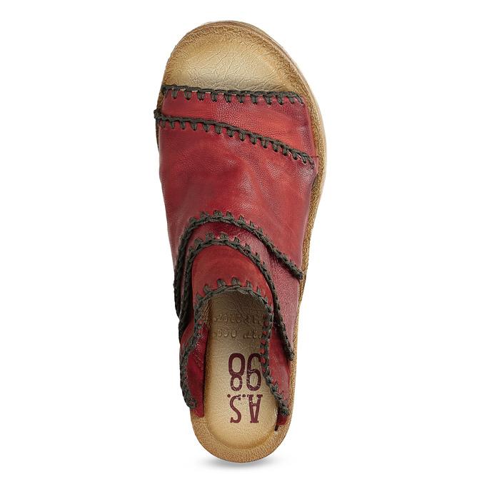 Červené dámské nazouváky na klínku a-s-98, červená, 566-5001 - 17