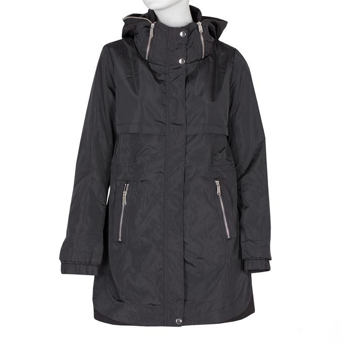 Delší dámská bunda s kapucí bata, černá, 979-6178 - 13