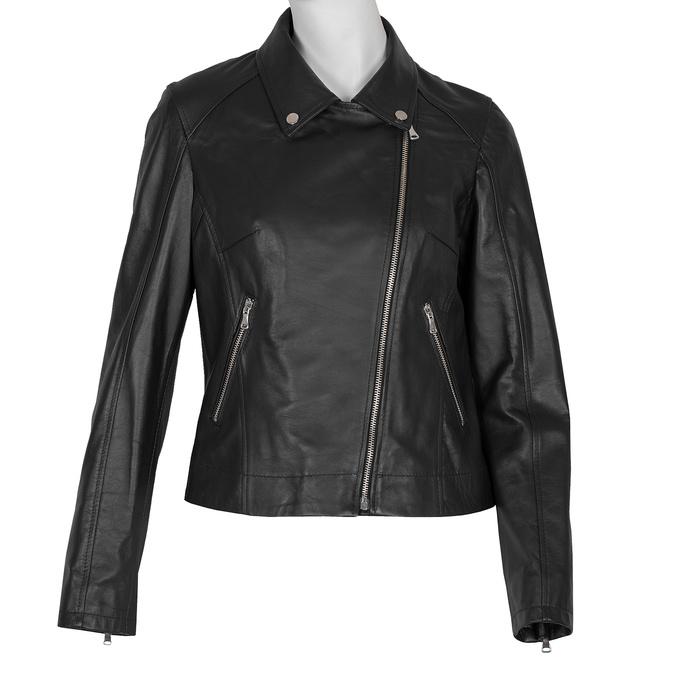 Kožená dámská bunda křivák bata, černá, 974-6123 - 13