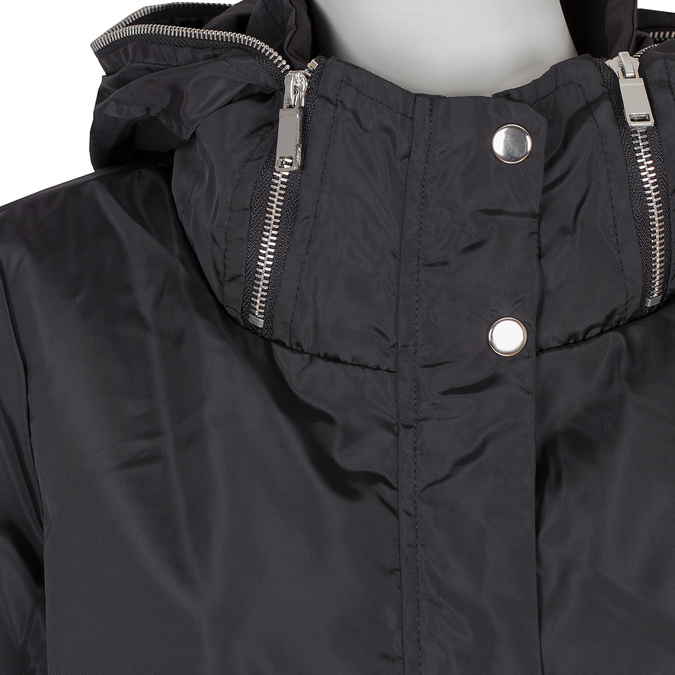 Delší dámská bunda s kapucí bata, černá, 979-6178 - 16
