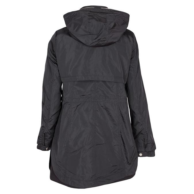 Delší dámská bunda s kapucí bata, černá, 979-6178 - 26