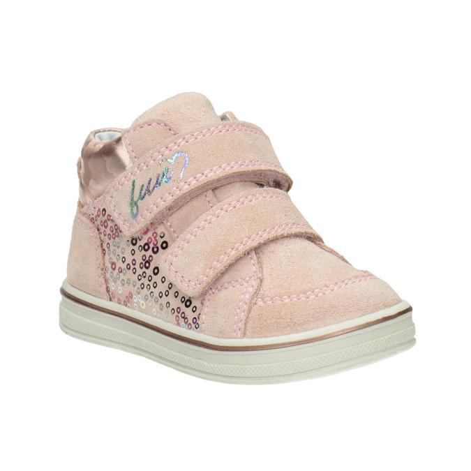 Dětská kotníčková kožená obuv dívčí bubblegummers, růžová, 123-5606 - 13
