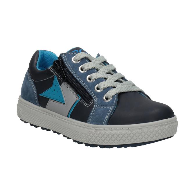 Chlapecké kožené tenisky modré mini-b, modrá, 416-9603 - 13