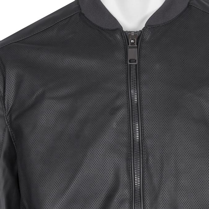 Pánská bunda s perforací bata, černá, 971-9197 - 16