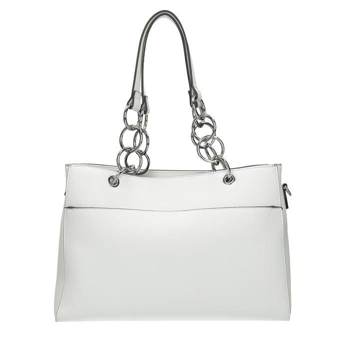 Bílá kabelka s řetízkem bata, bílá, 961-1343 - 26