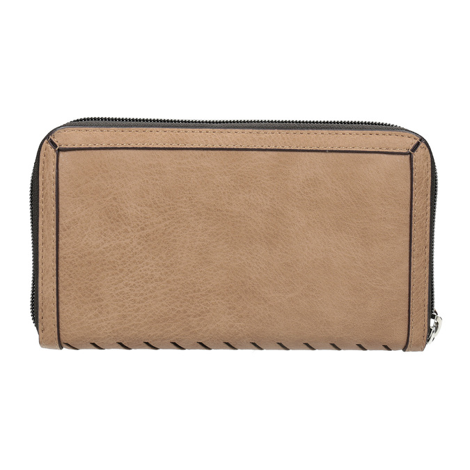 Dámská béžová peněženka s průstřihy bata, hnědá, 941-4157 - 16