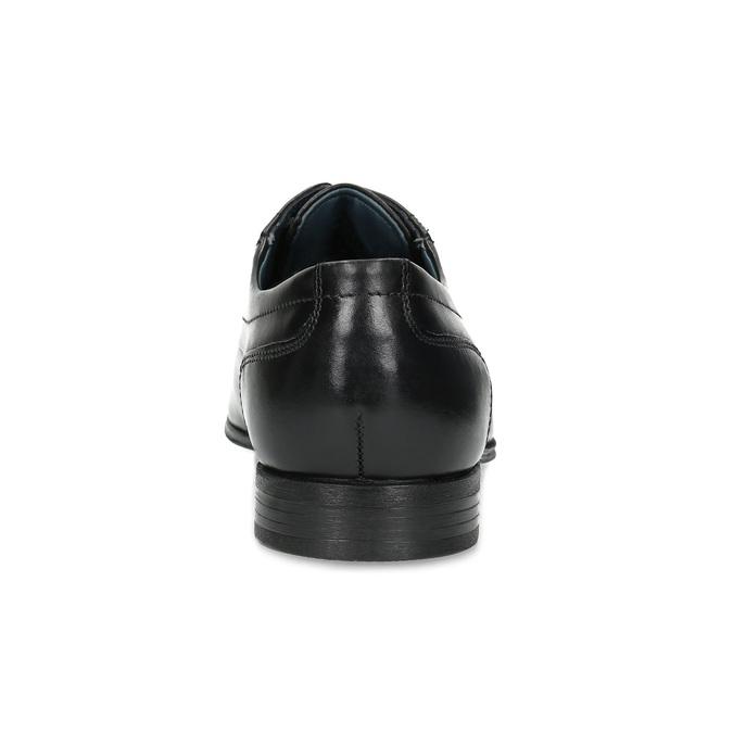 Pánské kožené polobotky s prošitím na špici bugatti, černá, 824-6017 - 15