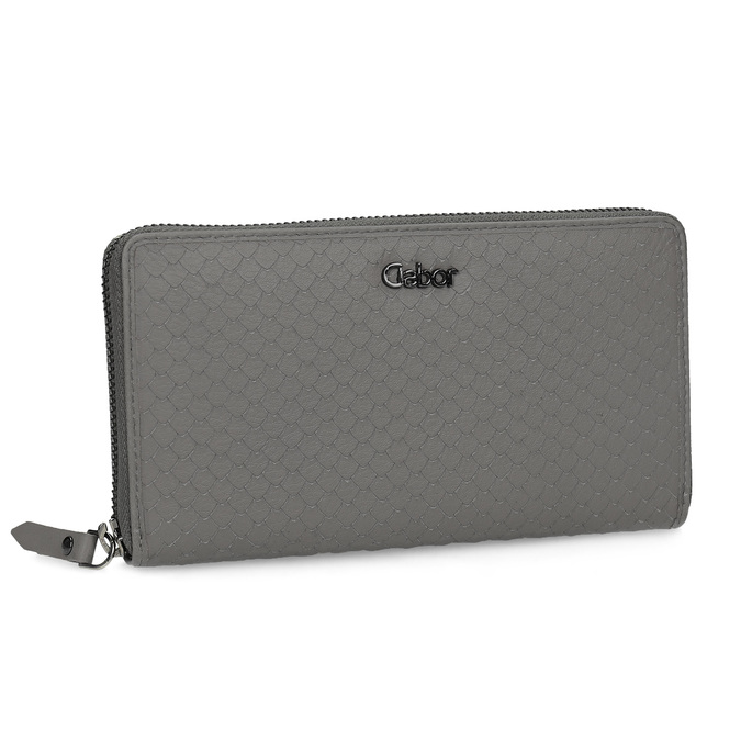 Kožená šedá peněženka dámská gabor-bags, šedá, 946-8002 - 13