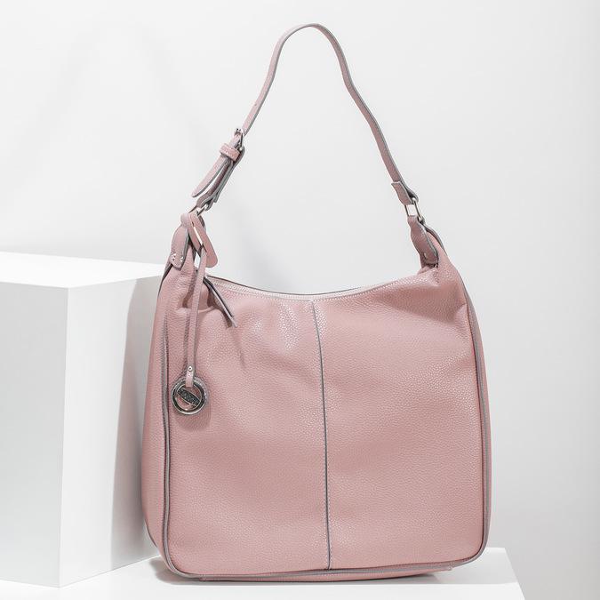 Růžová dámská kabelka v Hobo stylu gabor-bags, růžová, 961-5439 - 17
