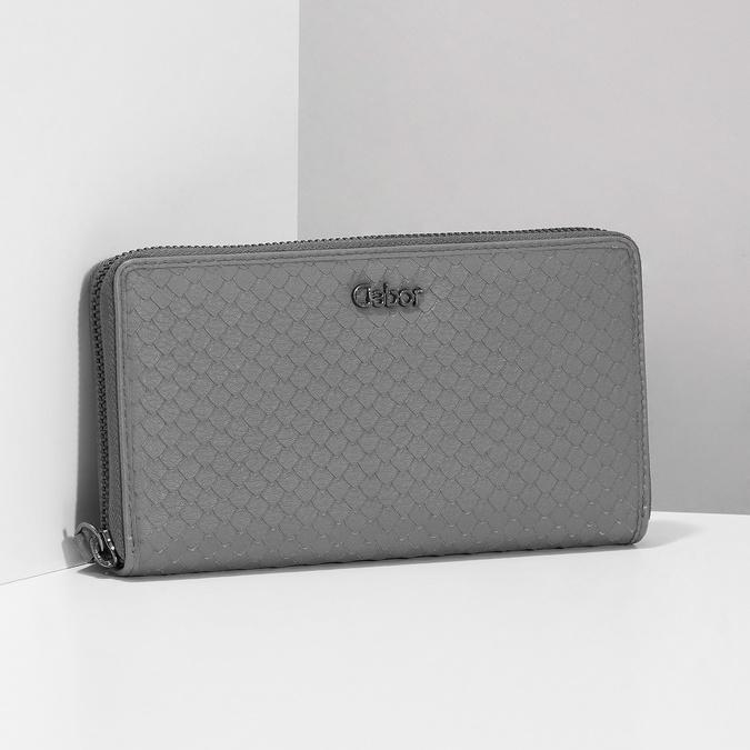 Kožená šedá peněženka dámská gabor-bags, šedá, 946-8002 - 17