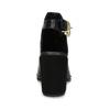 Kožená obuv na masivním podpatku royal-republiq, černá, 524-6020 - 15
