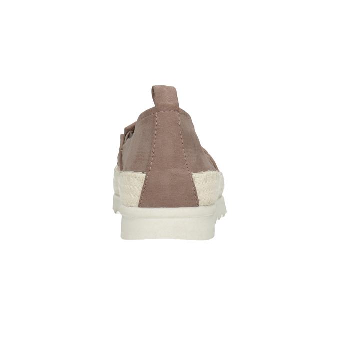 Hnědé dámské espadrilky bata, 519-5606 - 16