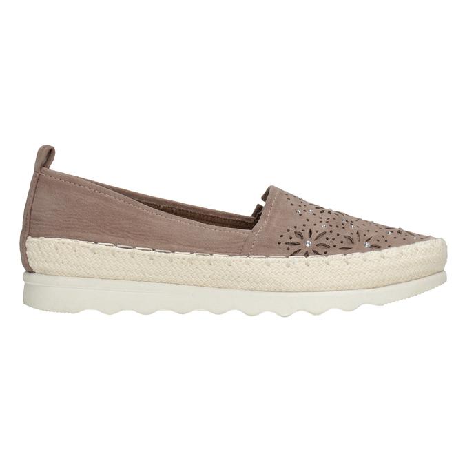 Hnědé dámské espadrilky bata, 519-5606 - 26