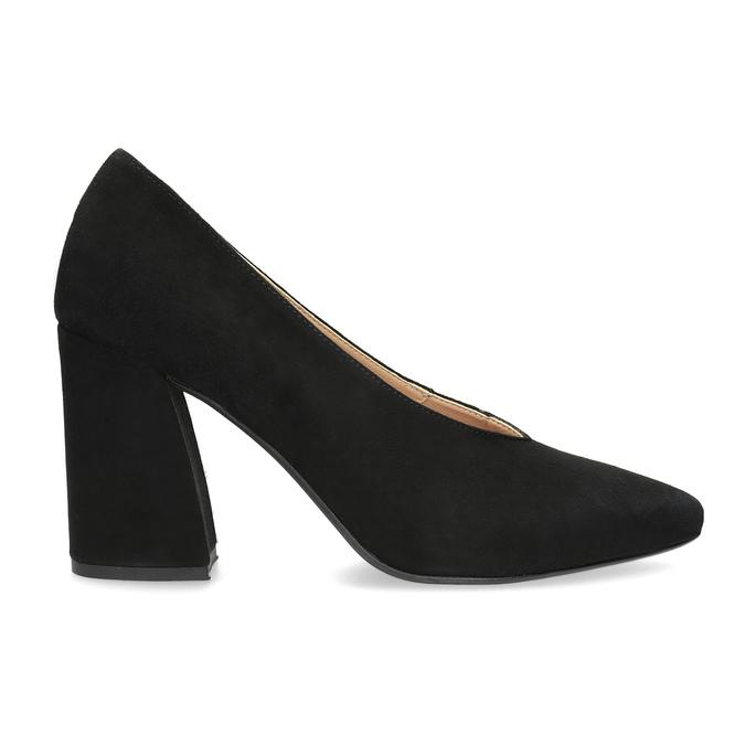 Černé lodičky do špičky z broušené kůže bata, černá, 723-6608 - 19