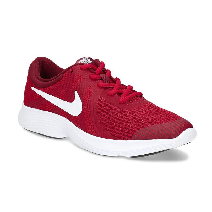 Červené dětské tenisky s bílou podešví nike, červená, 409-5502 - 13
