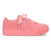 Růžové kožené tenisky na flatformě puma, růžová, 503-5737 - 19