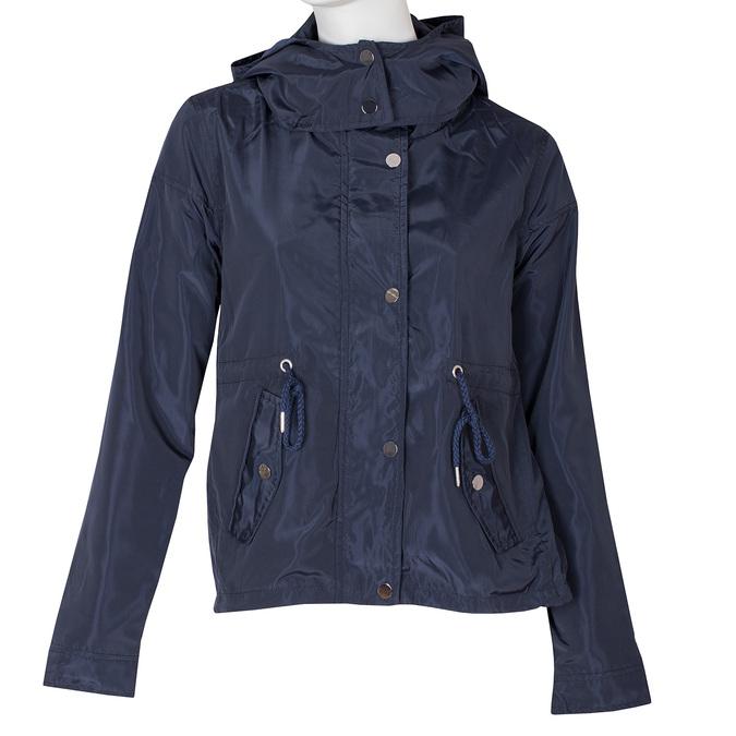 Dámská modrá bunda s kapucí bata, modrá, 979-9109 - 13
