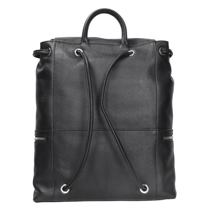 Černý kožený batoh se zipy bata, černá, 964-6259 - 16