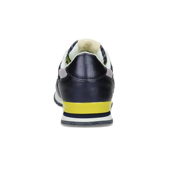 Dámské tenisky se žlutými detaily a vzorem pepe-jeans, modrá, 549-9024 - 15