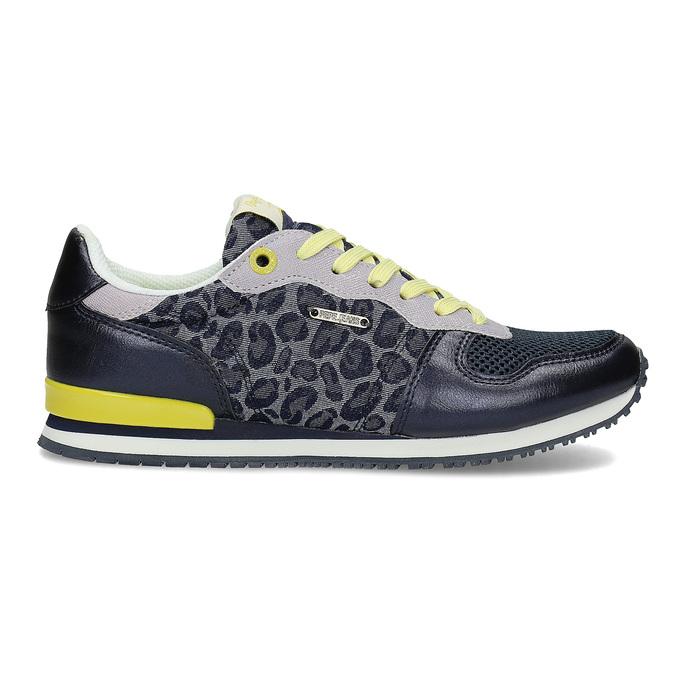 Dámské tenisky se žlutými detaily a vzorem pepe-jeans, modrá, 549-9024 - 19