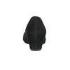 Lodičky na klínku z broušené kůže gabor, černá, 713-6063 - 16