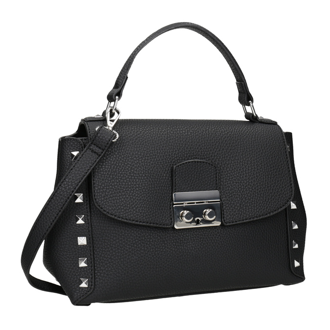 Černá crossbody kabelka se cvočky bata, černá, 961-6279 - 13