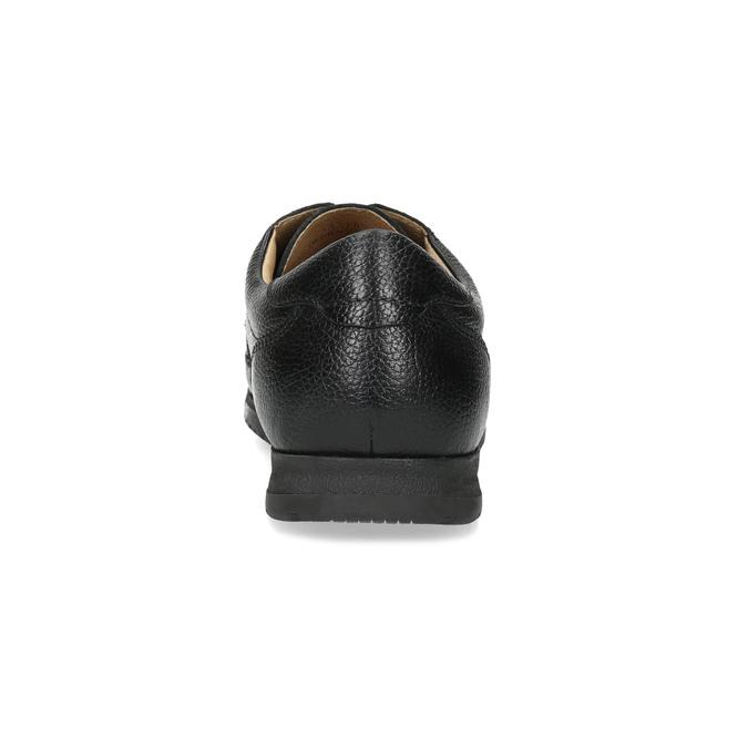 Černé pánské polobotky s pohodlnou podešví comfit, černá, 824-6996 - 15
