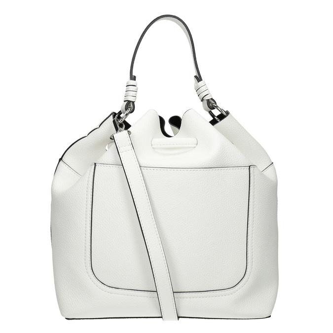 Bílá Bucket Bag kabelka bata, bílá, 961-1298 - 16