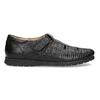 Kožené pánské sandály s pohodlnou podešví černé comfit, černá, 854-6602 - 19