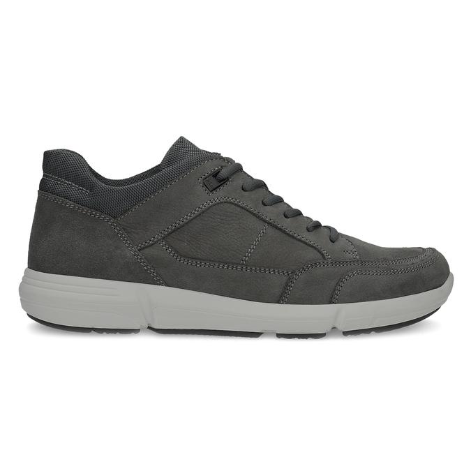 Kožené pánské tenisky černé bata-light, šedá, 846-2712 - 19