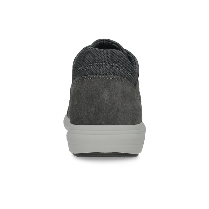 Kožené pánské tenisky černé bata-light, šedá, 846-2712 - 15