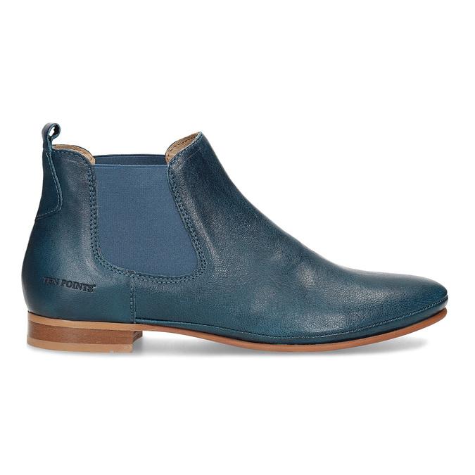 Dámské kožené modré Chelsea Boots ten-points, modrá, 516-9044 - 19
