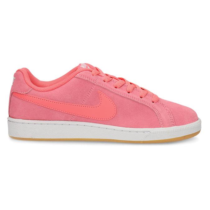 Kožené růžové dámské tenisky nike, růžová, 503-5862 - 19