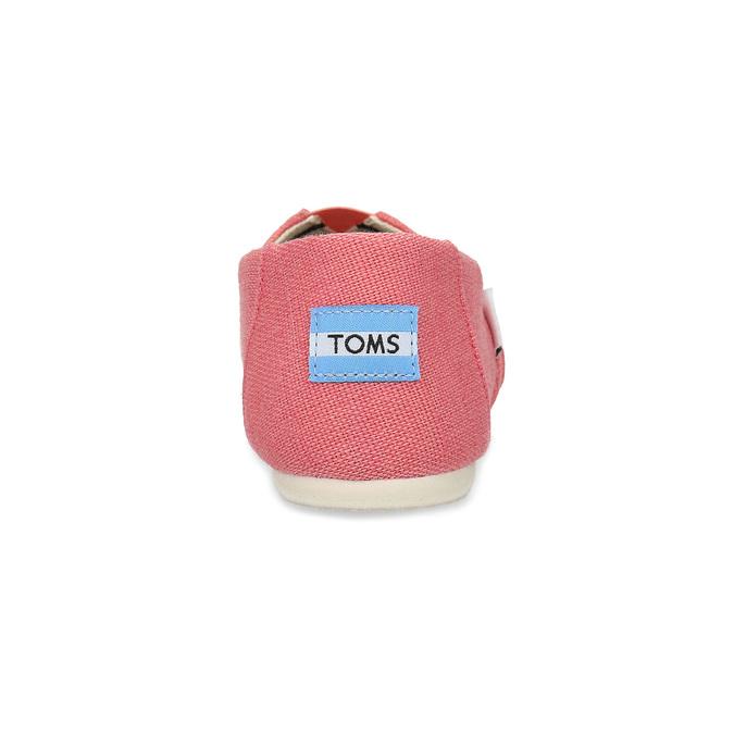 Růžové dámské slip-on toms, růžová, 519-5017 - 15