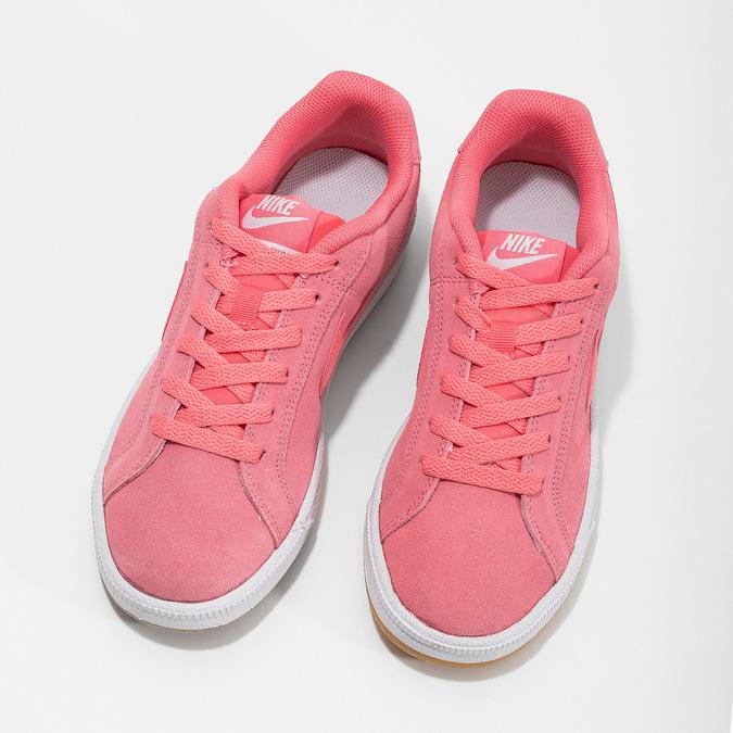 Kožené růžové dámské tenisky nike, růžová, 503-5862 - 16