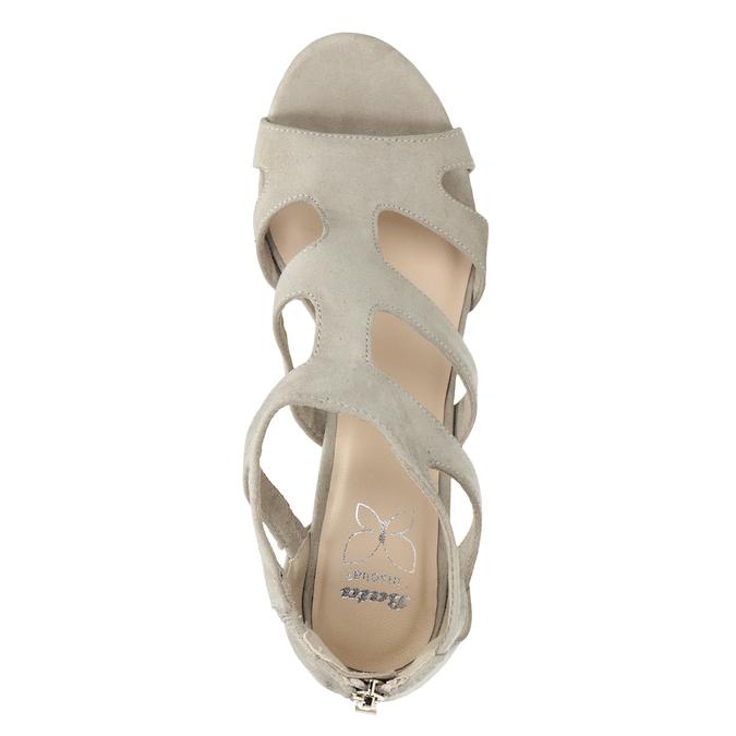 Sandály na stabilním podpatku insolia, béžová, 769-8617 - 17