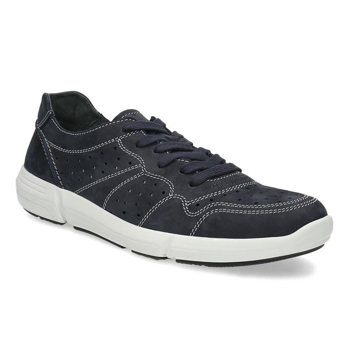 Bata light Pánské kožené tenisky modré - Všechny boty  880a9fa4a1