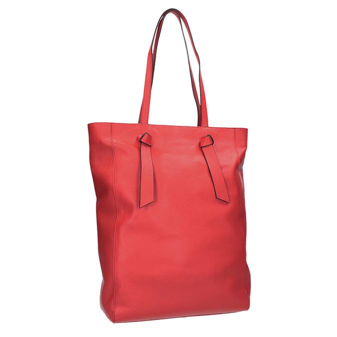 Červená kožená kabelka ve stylu shopping bag bata, červená, 964-5297 - 13
