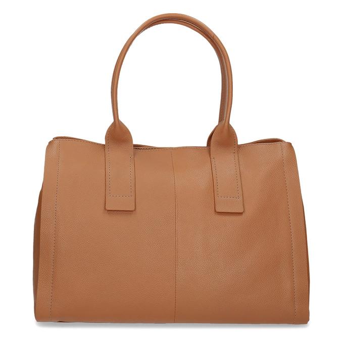 Světle hnědá kožená kabelka bata, hnědá, 964-3298 - 26