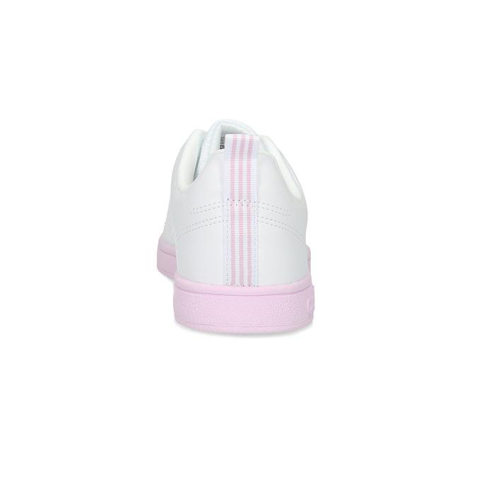 Dámské bílé tenisky s růžovou podešví adidas, bílá, 501-1533 - 15